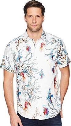 Robert Graham Men's Deep Sea Short Sleeve Classic Fit Shirt