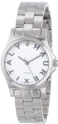 Haurex Italy Women's 7A505DSS Diamond-Accented Mini City Stainless Steel Three Hands Watch
