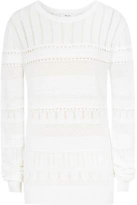 c3a04ab63548 Reiss Astrid - Lace-detail Knitted Jumper in Off White