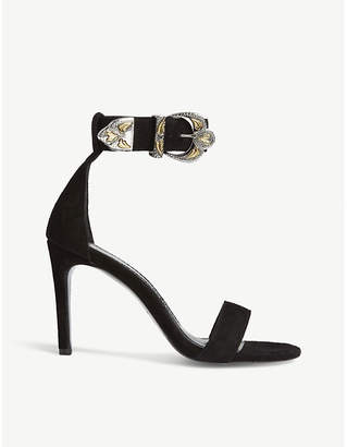 Maje Falbaria buckled suede sandals