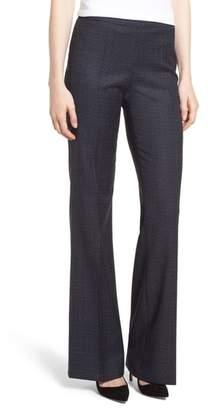BOSS Tulea Windowpane Side Zip Bootcut Pants