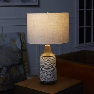 "Bungalow Rose Mercurio Diamond Etched Ceramic 22.25"" Table Lamp"