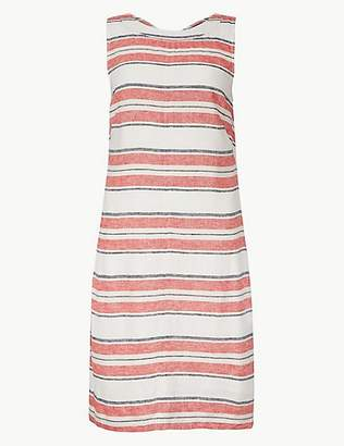 M&S Collection Striped Knee Length Shift Dress