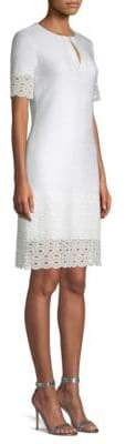 St. John Lace Trim A-Line Dress