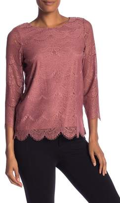 Adrianna Papell Stretch Lace Blouse