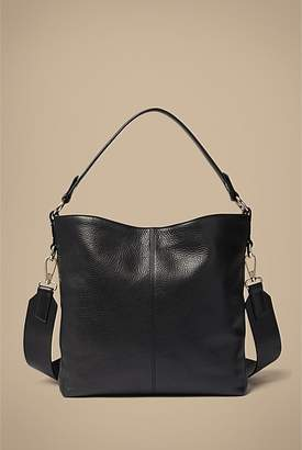 At Witchery Nessa Pebble Leather Hobo Bag
