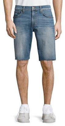 Joe's Jeans Cutoff-Hem Denim Shorts, Blue $158 thestylecure.com