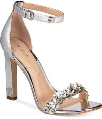 Aldo Mila Two-Piece Block-Heel Sandals Women's Shoes $90 thestylecure.com