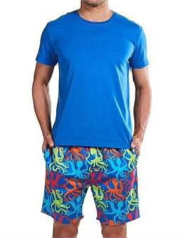 Mitch Dowd Octopus Dance Tee & Woven Short Sleep Set