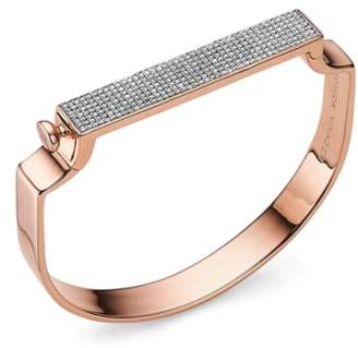 Monica Vinader Engravable Signature Diamond Bangle