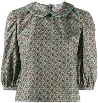 Batsheva floral Peter Pan collar blouse