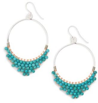Women's Panacea Beaded Circle Earrings $22 thestylecure.com