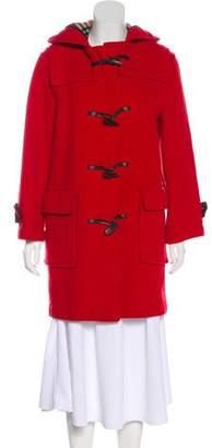Burberry Hooded Knee-Length Coat