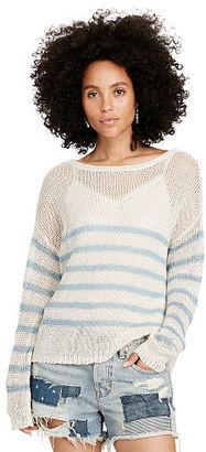 Ralph Lauren Denim & Supply Striped Linen Crewneck Sweater $98 thestylecure.com