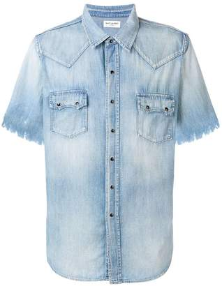 Saint Laurent chewed denim shirt