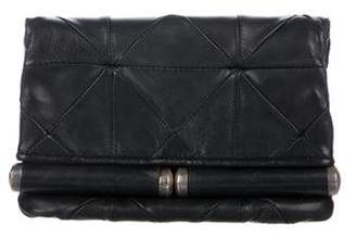 CNC Costume National Leather Fold-Over Clutch