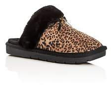 Michael Kors Girls' Margot Comfy Leopard Print Slippers - Toddler, Little Kid, Big Kid