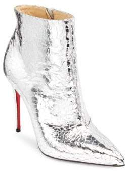 Christian Louboutin So Kate 100 Mirrored Leather Booties