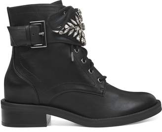 Nwwts Tajell Embellished Combat Booties