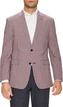 Tommy Hilfiger Suiting Stretch Seer Gingham Notch Lapel Sportcoat