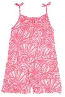 Vineyard Vines Little Girl's& Girl's Nautilus Shell Print Romper