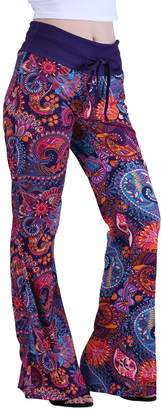 HDE Womens Wide Leg Pajama Pants Sleepwear Casual Loose Lounge PJ Yoga Bottoms (Unicorns,and Rainbows,)