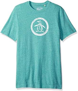 Original Penguin Men's Triblend Circle Logo T-Shirt