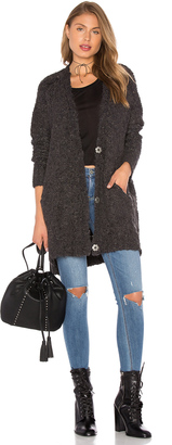 Free People Boucle Cardi Sweater $128 thestylecure.com