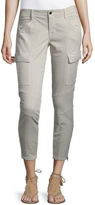 J Brand Women's Twill Zip Cuff Cargo Pants