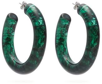 Lizzie Fortunato Rome Hoop Earrings - Womens - Green