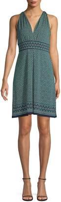 Max Studio V-Neck Printed Dress