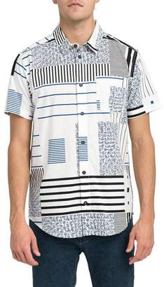 RVCA Mixed Linear Short Sleeve Shirt