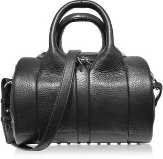 Alexander Wang Rockie Black Pebbled Leather Satchel Bag