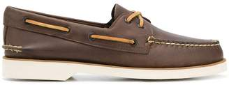 Sperry contrast stitched boat shoes
