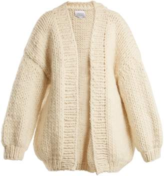 I LOVE MR MITTENS The Cardigan balloon-sleeved wool cardigan
