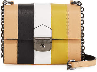 Longchamp Effrontee Striped Calf Leather Crossbody Bag