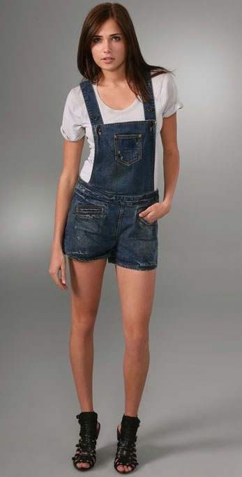 Prps Denim Overall Shorts