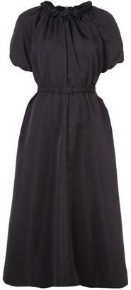 Co belted pleated dress