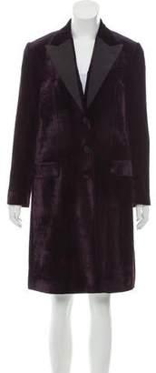 Dolce & Gabbana Peak-Lapel Velvet Coat