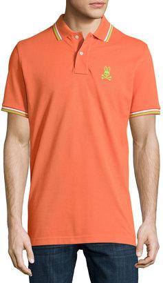 Psycho Bunny Neon Bunny Stripe-Trim Polo Shirt $66 thestylecure.com