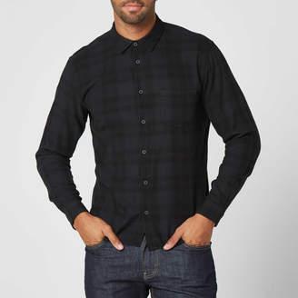 DSTLD Mens Button Down Shirt in Plaid Overdye