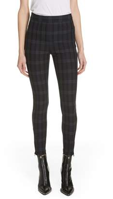 Alexander Wang Plaid Stretch Leggings