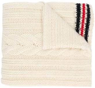 Thom Browne intarsia stripe knitted scarf