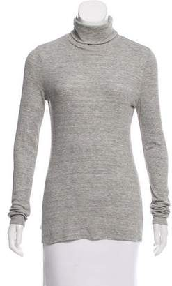 White + Warren Rib-Knit Long Sleeve Top