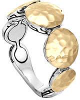 John Hardy Palu Gold & Silver Round Disc Ring, Size 7