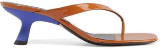 Simon Miller Beep Patent-leather Sandals - Tan