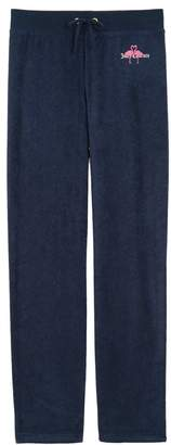 Juicy Couture Micro Terry Flamingo Kiss Mar Vista Pant for Girls