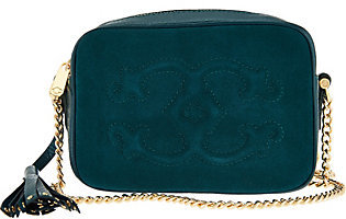 C. WonderAs Is C. Wonder Pebble Leather and Suede Crossbody Handbag