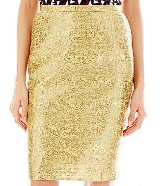 JCPenney Duro Olowu for jcp Metallic Pencil Skirt