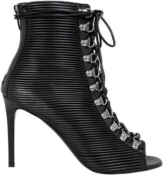 Balmain Club Pleated Booties